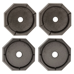 RV SnapPad HiWay-8 Bus Permanent RV Jack Pad - 4 Pack