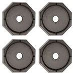 RV SnapPad HiWay Bus Permanent RV Jack Pad - 4 Pack