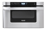 Sharp KB6524PS Stainless Steel Microwave Drawer Oven - 1.2 Cubic Ft - 24""