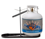 Flame King KT20MNT Dual RV Propane Tank Rack With Hold Down Clamp