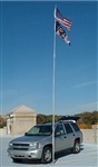 Flagpole To Go LD-28-F 28' Large Diameter Fiberglass Flagpole