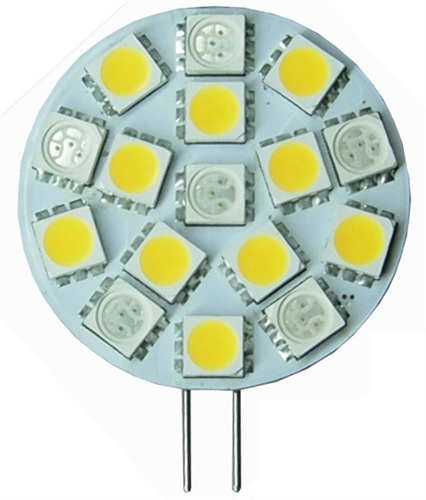Bee Green LG4S6BU10WW Dual-Color Switchable G4 LED Lightbulb - 6 Blue, 10 Warm White - 27/173 Lumens