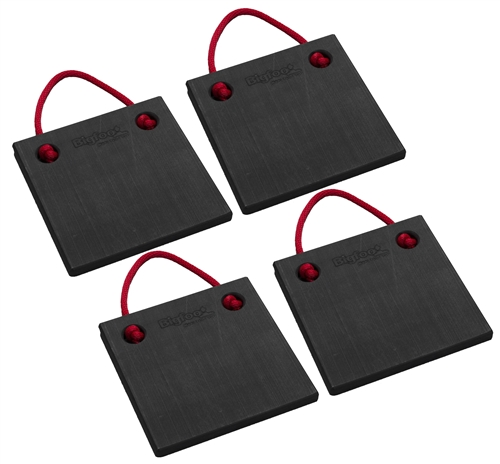 "Bigfoot P121210-BK-4 RV Outrigger Pads - 12"" x 12"" x 1"" - Black - 4 Pack"