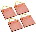 "Bigfoot P121210-SO-4 RV Outrigger Pads - 12"" x 12"" x 1"" - Safety Orange - 4 Pack"