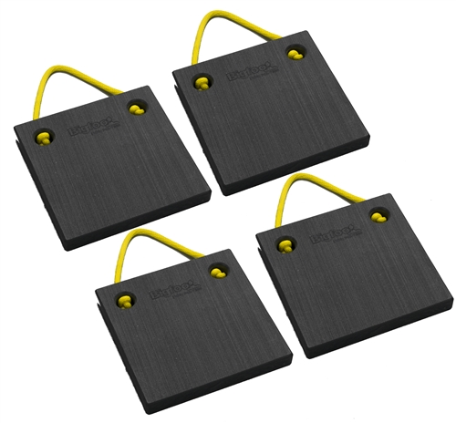 "Bigfoot P121215-BK-4 RV Outrigger Pads - 12"" x 12"" x 1.5"" - Black - 4 Pack"