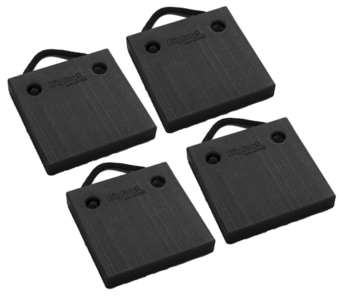 "Bigfoot P121220-BK-4 RV Outrigger Pads - 12"" x 12"" x 2"" - Black - 4 Pack"
