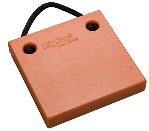 "Bigfoot P121220-SO RV Outrigger Pad - 12"" x 12"" x 2"" - Safety Orange"