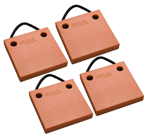 "Bigfoot P121220-SO-4 RV Outrigger Pads - 12"" x 12"" x 2"" - Safety Orange - 4 Pack"