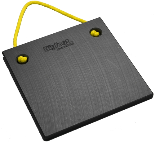 "Bigfoot P151510-BK RV Outrigger Pad - 15"" x 15"" x 1"" - Black"