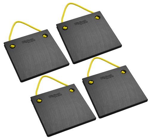 "Bigfoot P151510-BK-4 RV Outrigger Pads - 15"" x 15"" x 1"" - Black - 4 Pack"