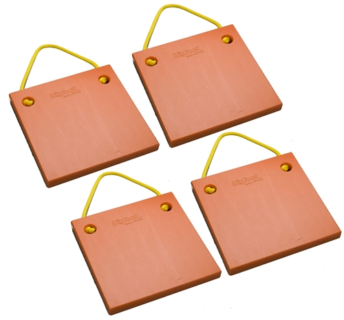 "Bigfoot P151510-SO-4 RV Outrigger Pads - 15"" x 15"" x 1"" - Safety Orange - 4 Pack"