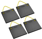 "Bigfoot P151515-BK-4 RV Outrigger Pads - 15"" x 15"" x 1.5"" - Black - 4 Pack"