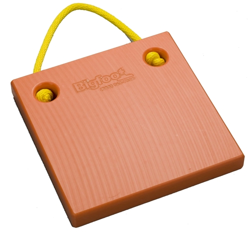"Bigfoot P151515-SO RV Outrigger Pad - 15"" x 15"" x 1.5"" - Safety Orange"