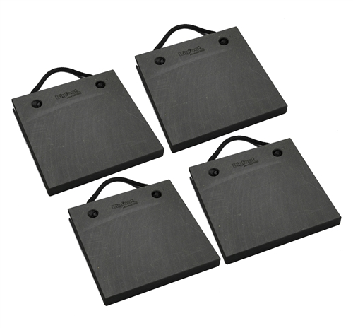 "Bigfoot P181815-BK-4 RV Outrigger Pads - 18"" x 18"" x 1.5"" - Black - 4 Pack"
