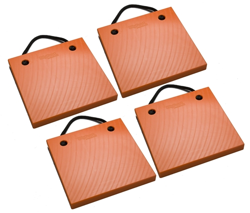 "Bigfoot P181815-SO-4 RV Outrigger Pads - 18"" x 18"" x 1.5"" - Safety Orange - 4 Pack"