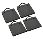 "Bigfoot P181820-BK-4 RV Outrigger Pads - 18"" x 18"" x 2"" - Black - 4 Pack"