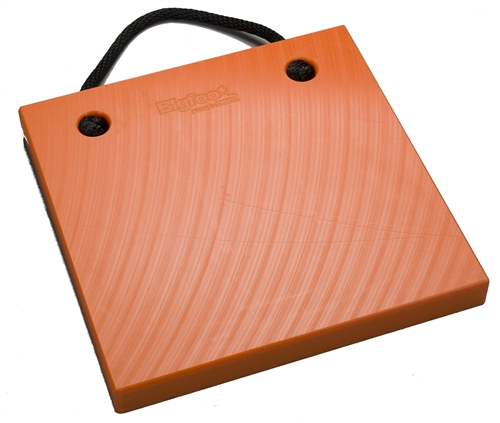 "Bigfoot P181820-SO RV Outrigger Pad - 18"" x 18"" x 2"" - Safety Orange"