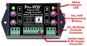 LSL Products PVCS-DC Programmable Voltage Controlled Switch Dual Channel