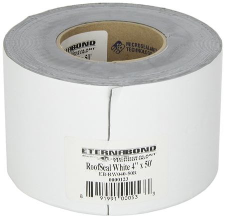 "Eternabond EB-RW040-50R RoofSeal White 4"" x 50' Leak Repair Tape"
