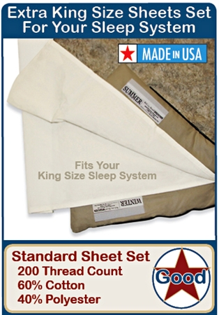 RVSK Extra King Size Sheet Set
