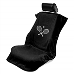 Seat Armour SA100TRCQB Tennis Racket Embroidered Car Seat Cover - Black
