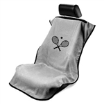 Seat Armour SA100TRCQG Tennis Racket Embroidered Car Seat Cover - Gray