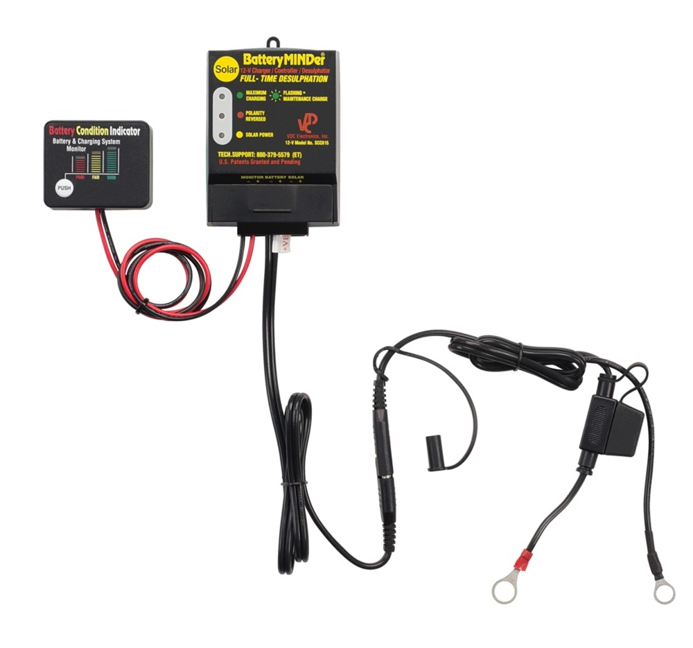 Batteryminder Scc015 Solar Charger Controller 12 Volt With 15 Watt Panel Rv Battery Wiring Harness 12volt