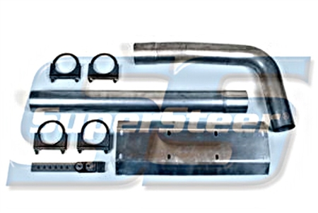 Super Steer P30/P32 Tail Pipe Kit (Single Exhaust-P30)