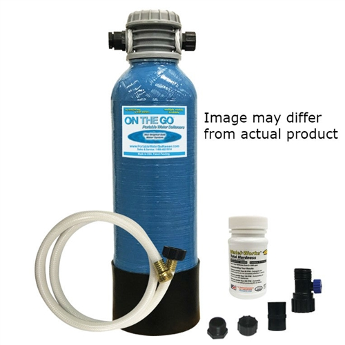 On The Go OTG4-StdSoft-BF RV Water Softener with Brass Fittings