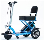 Enhance Mobility T3045-B Triaxe Sport Foldable Scooter - Blue