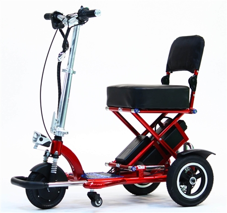 Enhance Mobility T3045-R Triaxe Sport Foldable Scooter - Red