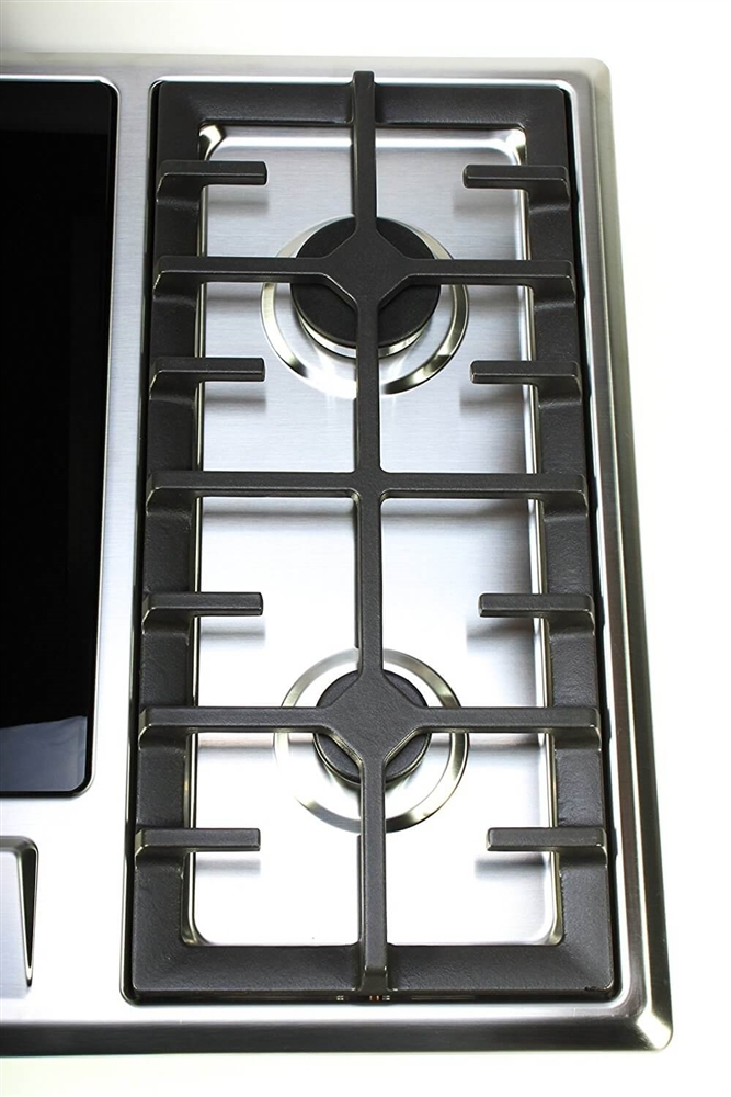 Double Gas Burner And Induction Cooktop