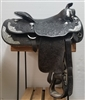 Black Blue RIbbon Show Saddle