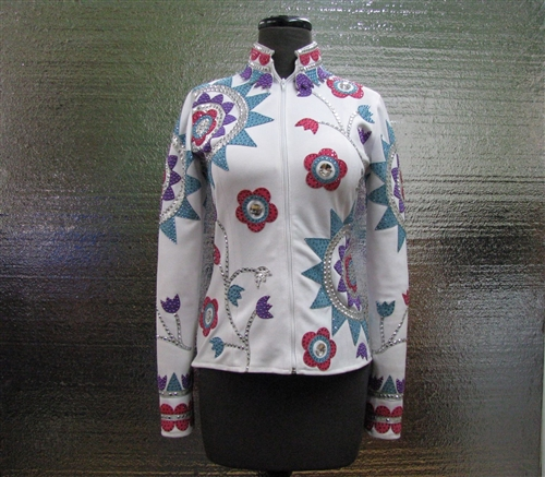 Diane Olsen, Diane Olsen Jacket, Diane Olsen Clothing Consignment, Used Diane Olsen, Used Diane Olsen show clothes, Consignment show clothing, Riding Jacket, All Day Show Outfit, Western Jacket, Used Western Jacket, Used All Day show outfit