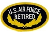 VIEW US Air Force Retired Patch