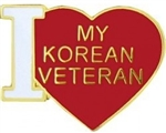 VIEW I Love My Korean Veteran Pin