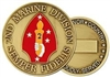 United States Marine Corps 2nd Marine Division Challenge Coin
