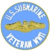 VIEW US Navy WW II Submarine Veteran Pin