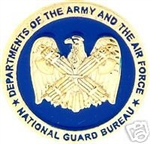 VIEW Army-Air Force National Guard Hat Pin
