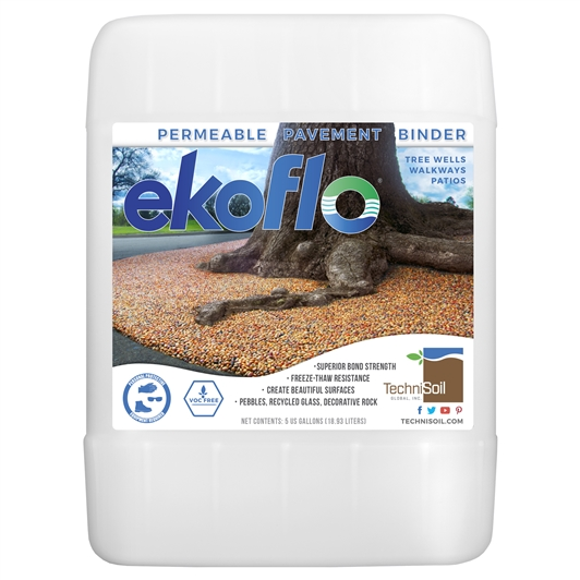 TechniSoil EkoFlo Permeable Pebble Binder (5-gallon bottle)
