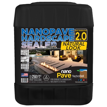 TechniSoil NanoPave Hardscape Sealer - Natural Look (5-gallon bottle)