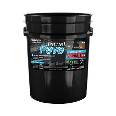TechniSoil TrowelPave Asphalt - Speed Set (45-pound bucket kit)