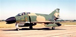Photo of a McDonnell F4C Phantom fighter.