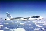 A color photo of a Boeing B-47 Stratojet nuclear bomber as shown in the video Stratojet: Meet Your Boeing B-47
