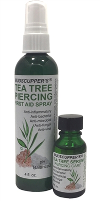 Mudscupper's Tea Tree Piercing & First Aid Set