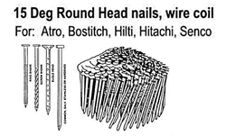 BWC04RB 15 Degree Wire Coil Roundhead nails