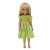 Outfit - Boneka Green Smock Dress
