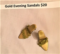 Shoes - Gold Evening Sandals