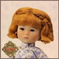 Wig - HD0011B Ten Ping Light Brown Mohair Wig With Braids