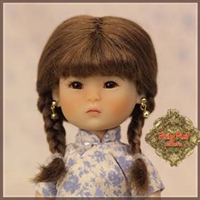Wig - HD0014A Ten Ping Brown Mohair Wig With Braids